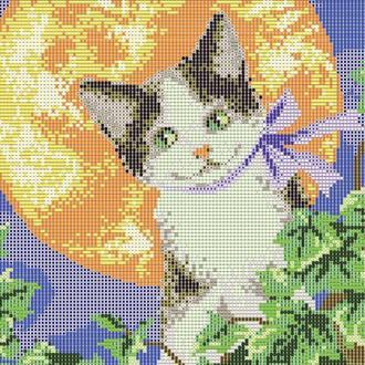 """Схема для вишивки бісером """"Місячний кіт"""""""