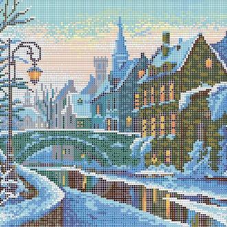 """Схема для вишивки бісером """"Зимове місто"""""""