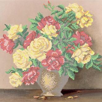 """Схема для вишивки бісером """"Букет троянд"""""""