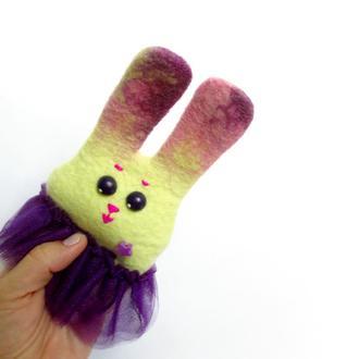 Зайчик – мини-перчаточная кукла для кукольного театра