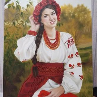"Картина ручная работа""украинка"""