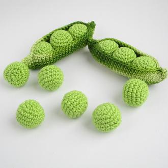 1шт-горошек/вязаные овощи/вязаные игрушки в виде еды/тактильные игры