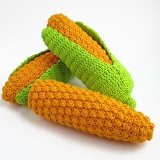Кукурузка/вязаные овощи/вязаные игрушки в виде еды/тактильные игры