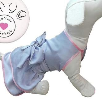 Светлые шелковые платья для собак