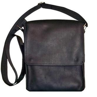 Кожаная сумка через плече City x2 (Black)