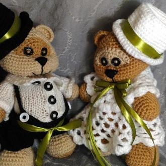 Мишки в свадебных костюмах
