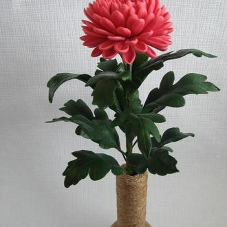 Хризантема из холодного фарфора.