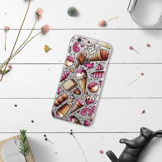 Чехол силиконовый FATHNER с мороженным (на любую модель телефона)