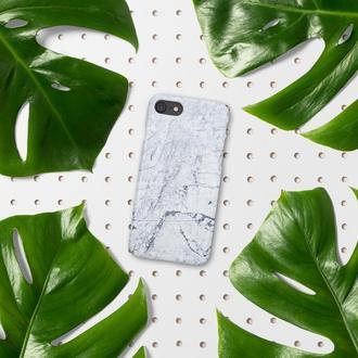 Пластиковый чехол FATHNER Marble White (на любую модель телефона)