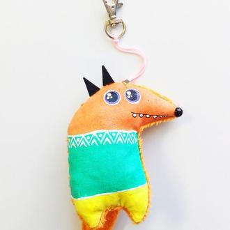 брелок-мягкая игрушка Лиса