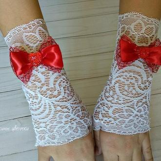Ажурные митенки-перчатки