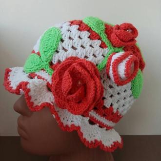 Панамка на девочку Цветок
