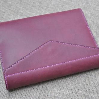 Обложка для А5 блокнота с карманами для визиток из натуральной кожи B14-800