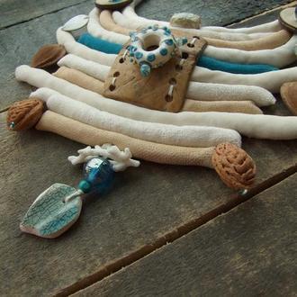 Мягкое шелковое ожерелье Народное Ушельское