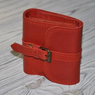 """Кожаный кошелек """"Адри"""" красного цвета"""