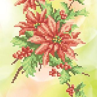 """Схема для вишивки бісером """"Різдвяна зірка"""""""