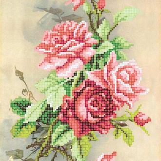 """Схема для вишивки бісером """"Вечірня троянда"""""""