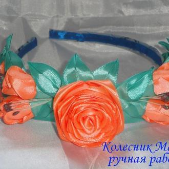 Обруч для волос Нежная роза