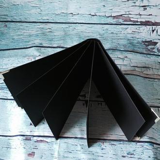 Заготовка для альбома 21,5х20,5 см чёрный картон