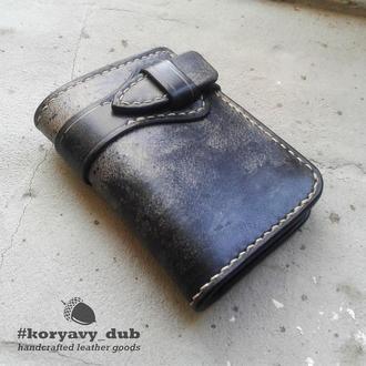 Кожаное портмоне / Кошелек с ремешком / Japanese traditional biker wallet