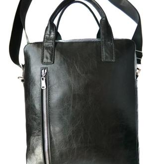 Мужская деловая кожаная сумка