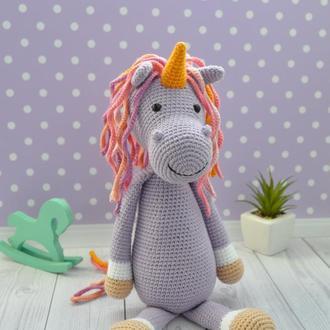Єдинорог Вязание детские игрушки Іграшка Єдиноріг Подарунок для дівчинки Дитячі іграшки
