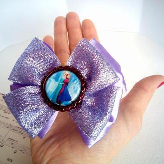 Фиолетовые банты. Сияющие прекрасные банты с изображением сестер из мультфильма Цена за пару!