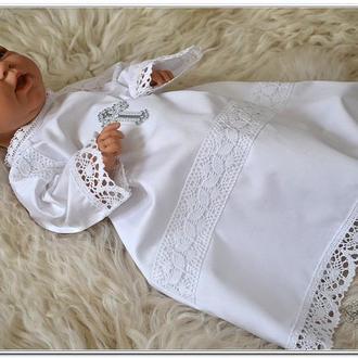 Крестильная рубашка для мальчика или девочки Серебро