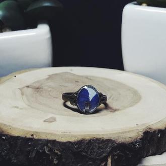 Винтажное кольцо с Дельфиниумом