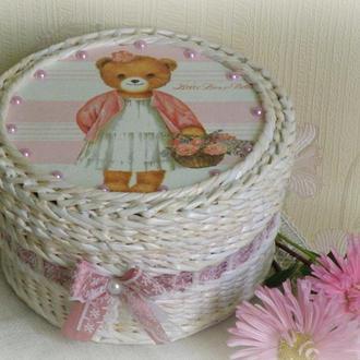 Шкатулка плетеная ′Little bear′