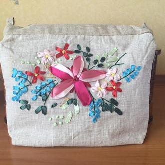 Косметичка-сумочка «Цветочная полянка».