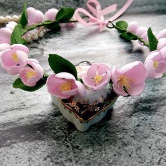 Веночек с цветами из фоамирана.