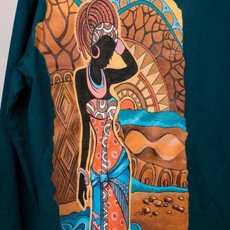 Свитшот с ручной росписью - Африка