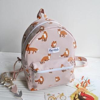 Рюкзак с лисами из ламинированного хлопка