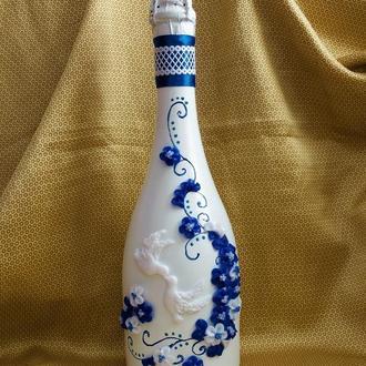весільне шампанське з голубами