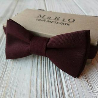 Бабочка-галстук марсала