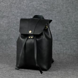 Женский рюкзак на затяжках с кнопкой |11950| Черный