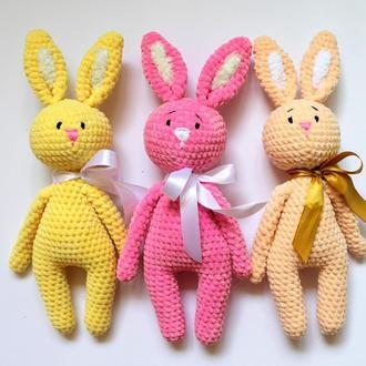 Зайчики плюшевые игрушки (плюшевая игрушка) 40 см ростом