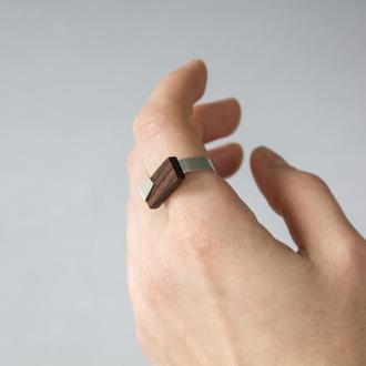 Серебряное кольцо с Палисандром