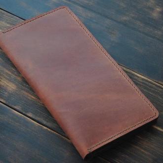 Винтажный кошелек из натуральной кожи
