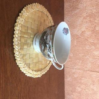 Подставка под чашку из соломы