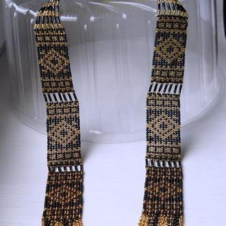 гердан Вечерний со славянским орнаментом