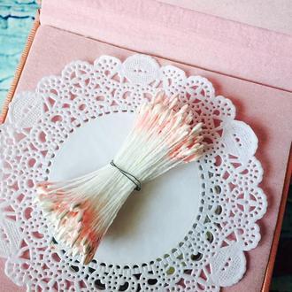 Тычинки розовые двусторонние 144 шт пучок
