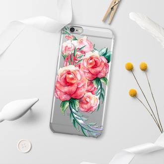 Силиконовый чехол FATHNER Flowers #2 (на любую модель телефона)