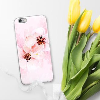 Силиконовый чехол FATHNER Flowers #2 (на любую модель телефона) 5