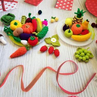 Набор овощей и фруктов.Игровой набор для детей.Развивающий набор.