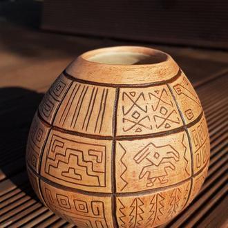 калабас з перуанським орнаментом