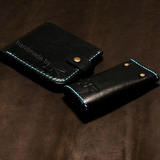 Мужской комплект портмоне+ключница