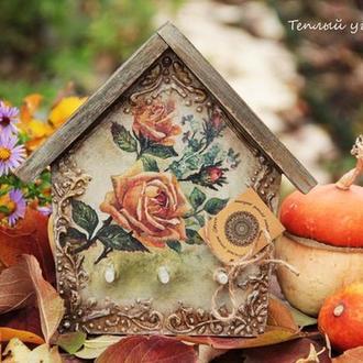 ключница Осенняя роза