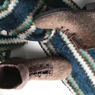 Валяные женские ботинки